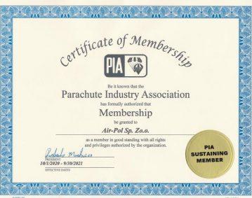 Certyfikat PIA
